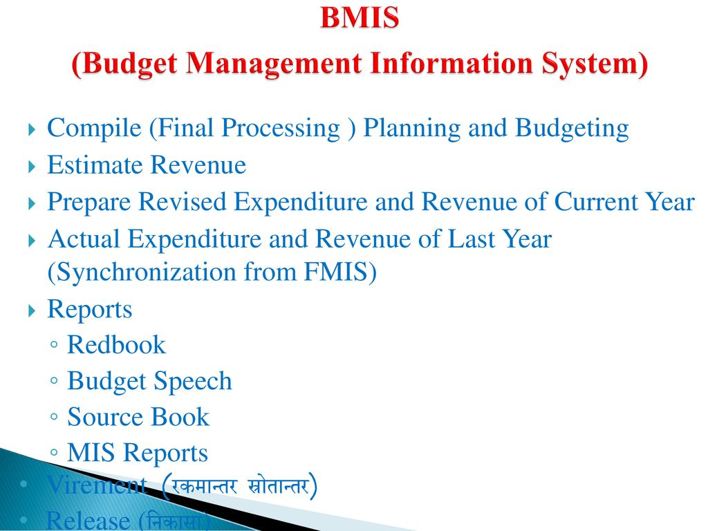 BMIS (Budget Management Information System)